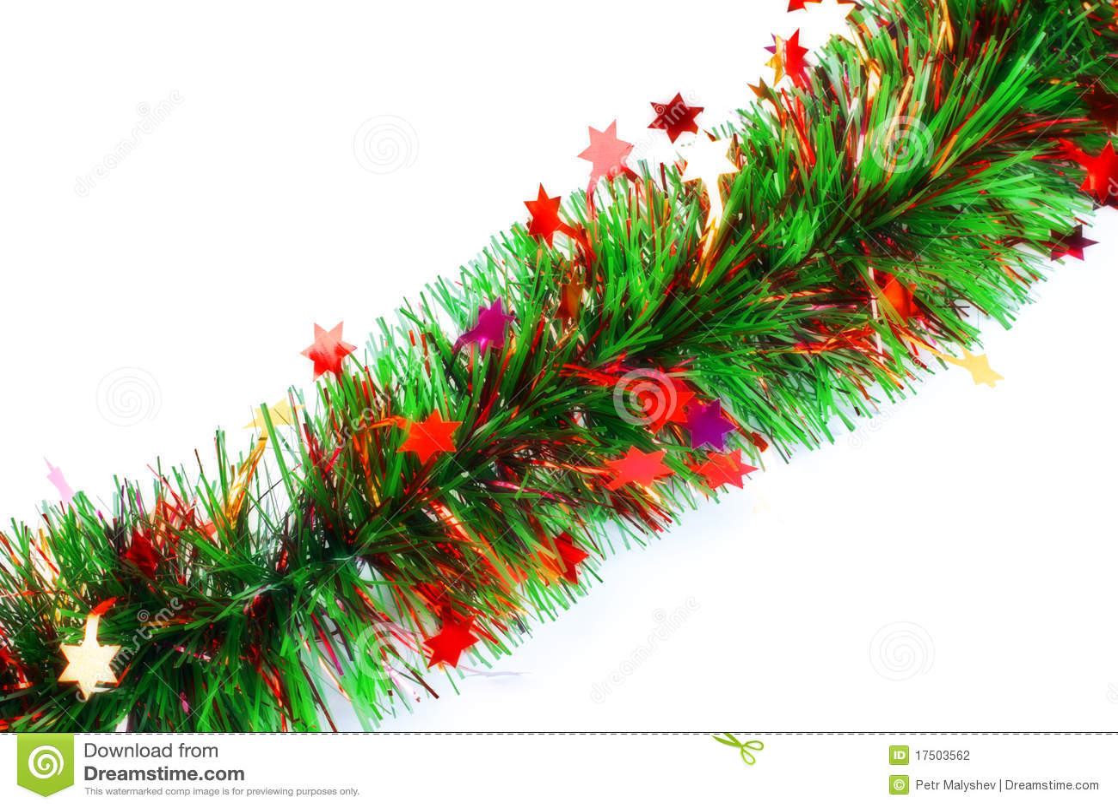 Guirnalda del oropel de la navidad fotograf a de archivo - Guirnalda de navidad ...