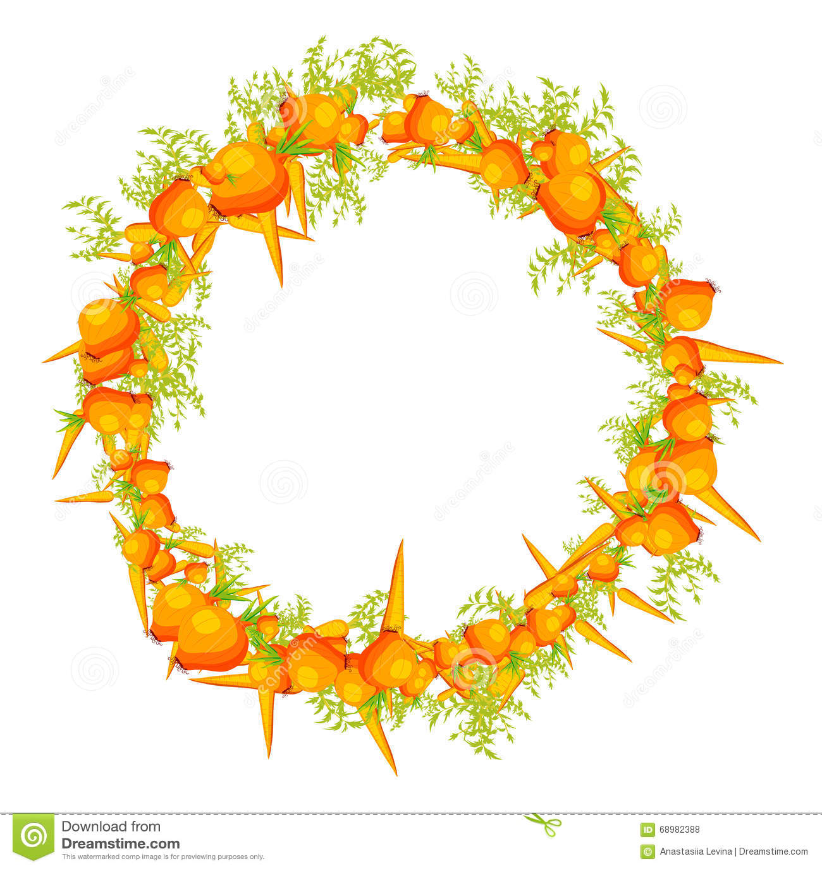 Guirnalda hecha de verduras