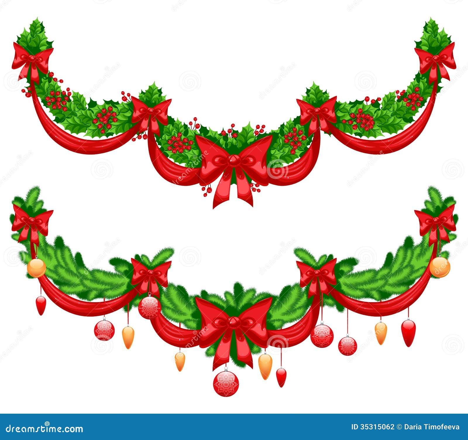 guirnaldas hermosas de la navidad fotografa de archivo