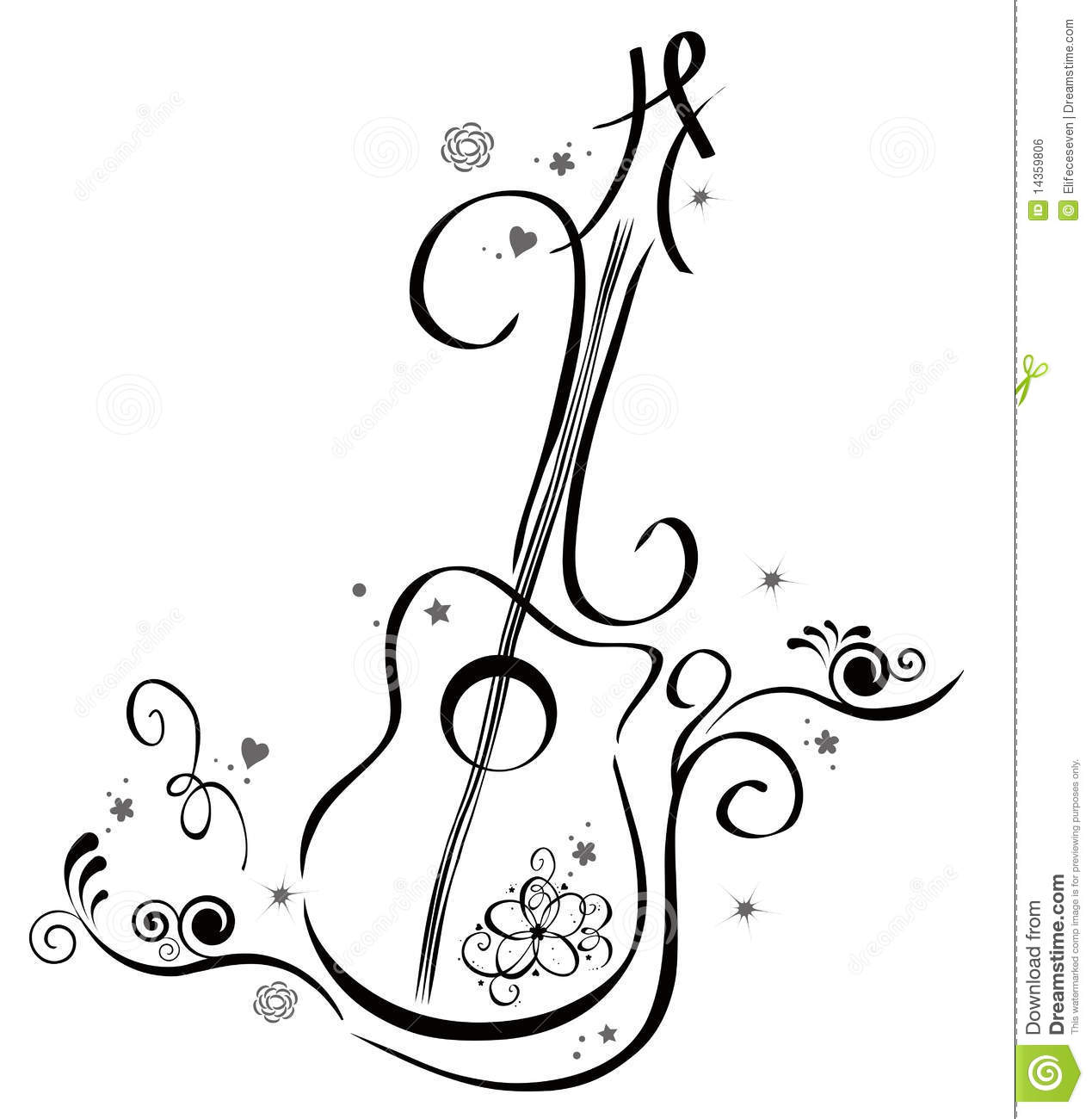 Guitar royalty free stock image image 14359806 for Note musicali dwg