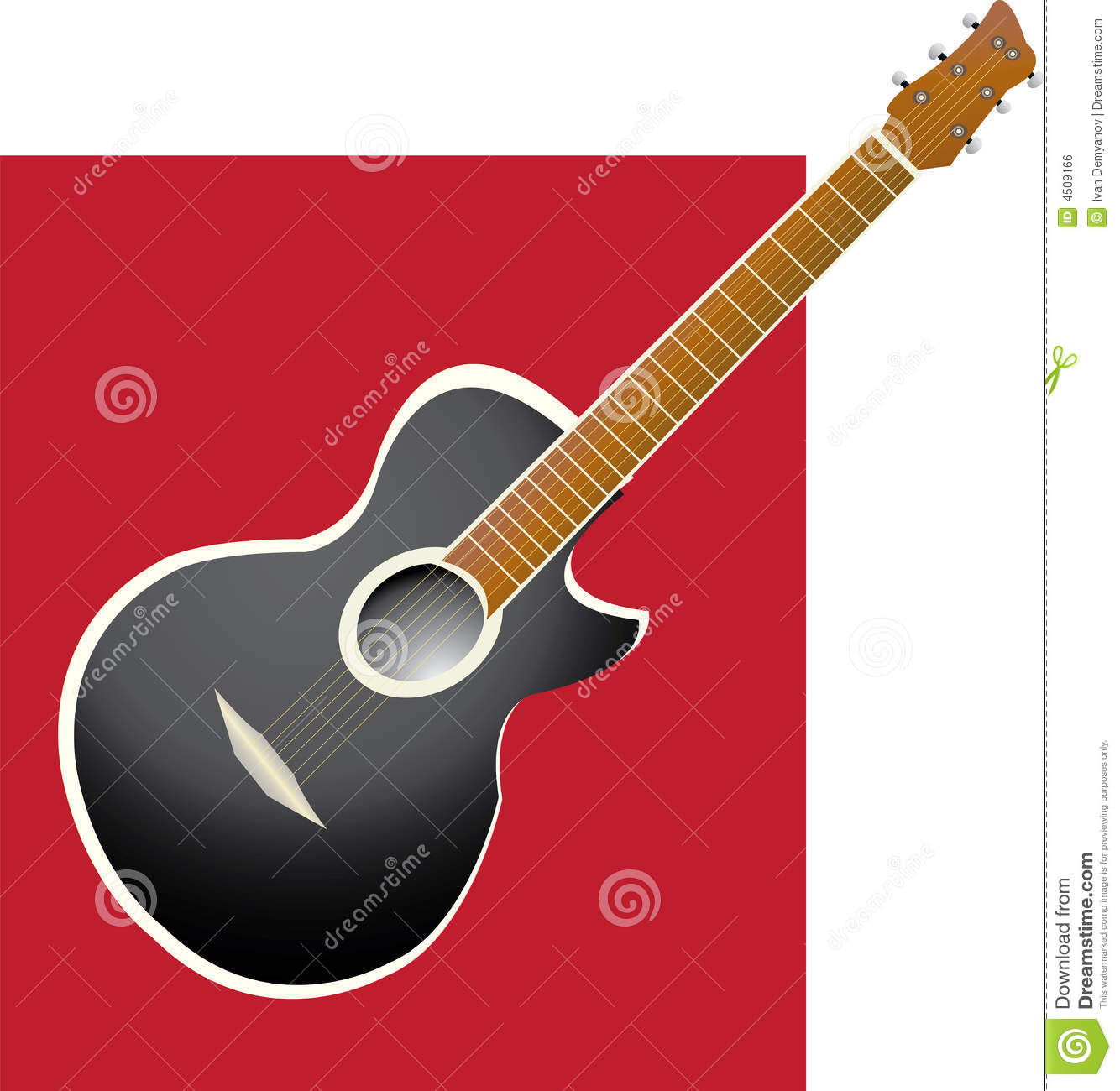 Guitar Abstract Royalty Free Stock Image - Image: 4509166