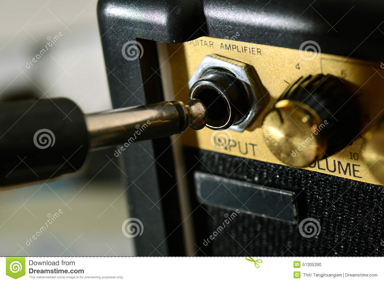 guitar amp and cable stock photo image of knob plus. Black Bedroom Furniture Sets. Home Design Ideas