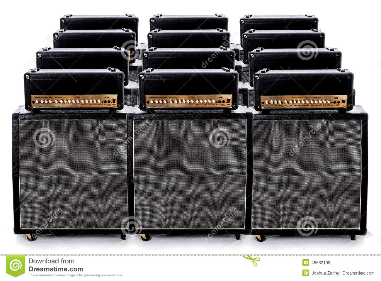 Guitar Amp Group Stock Photo - Image: 48682109