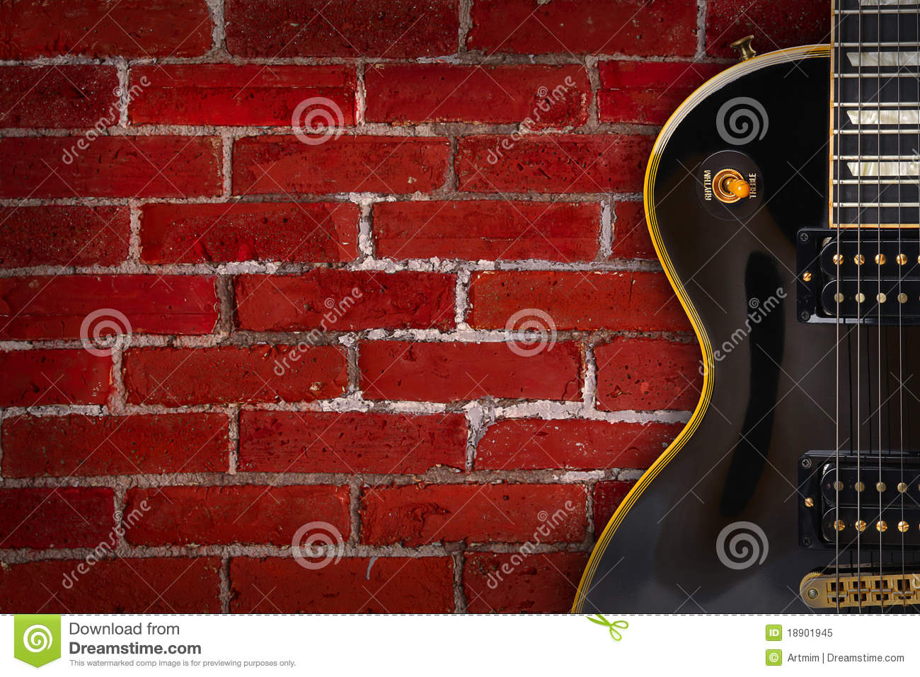 Guitar on background - music