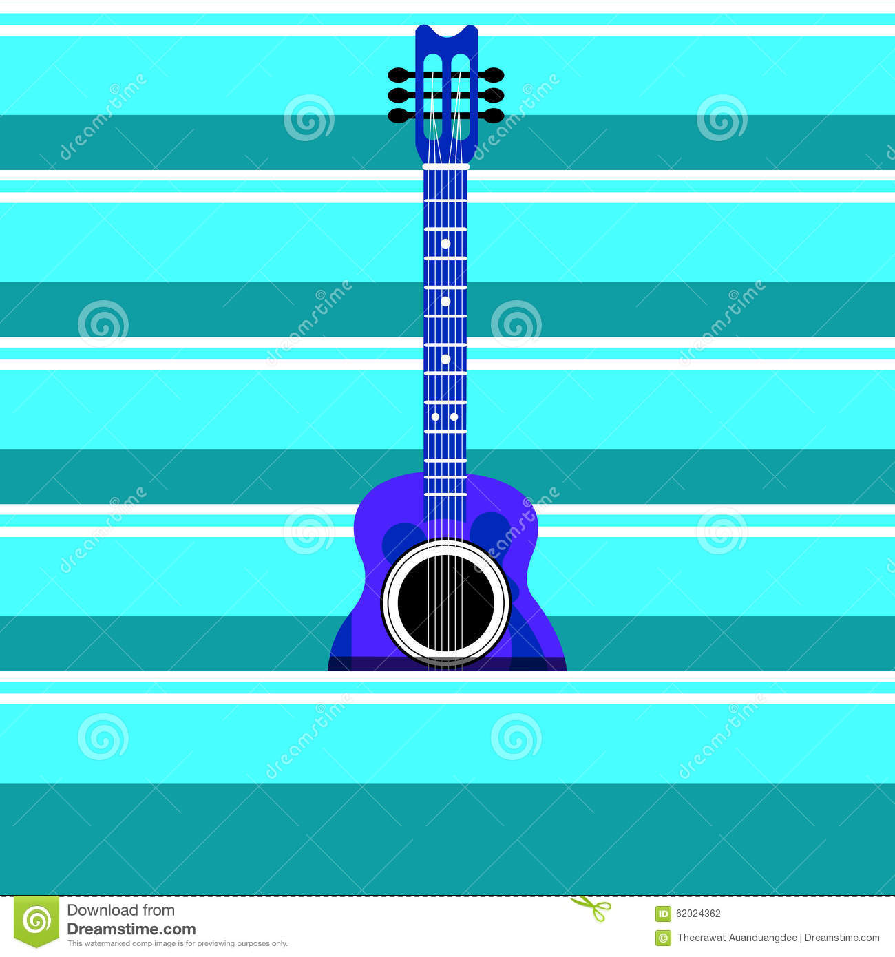 Guitar Background Stock Vector Image 62024362