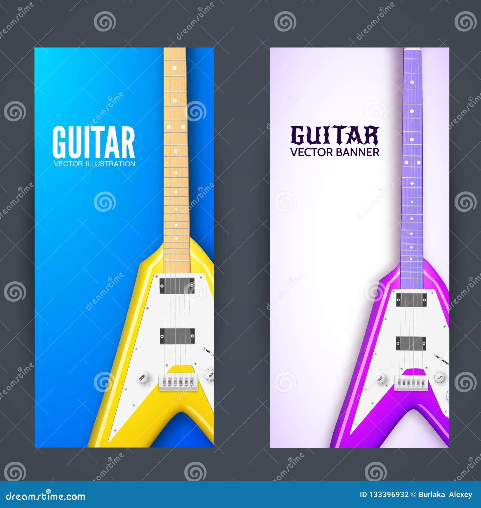 Guitar Banner Background Concept Vector Illustration Design Stock Illustration Illustration Of Music Header 133396932