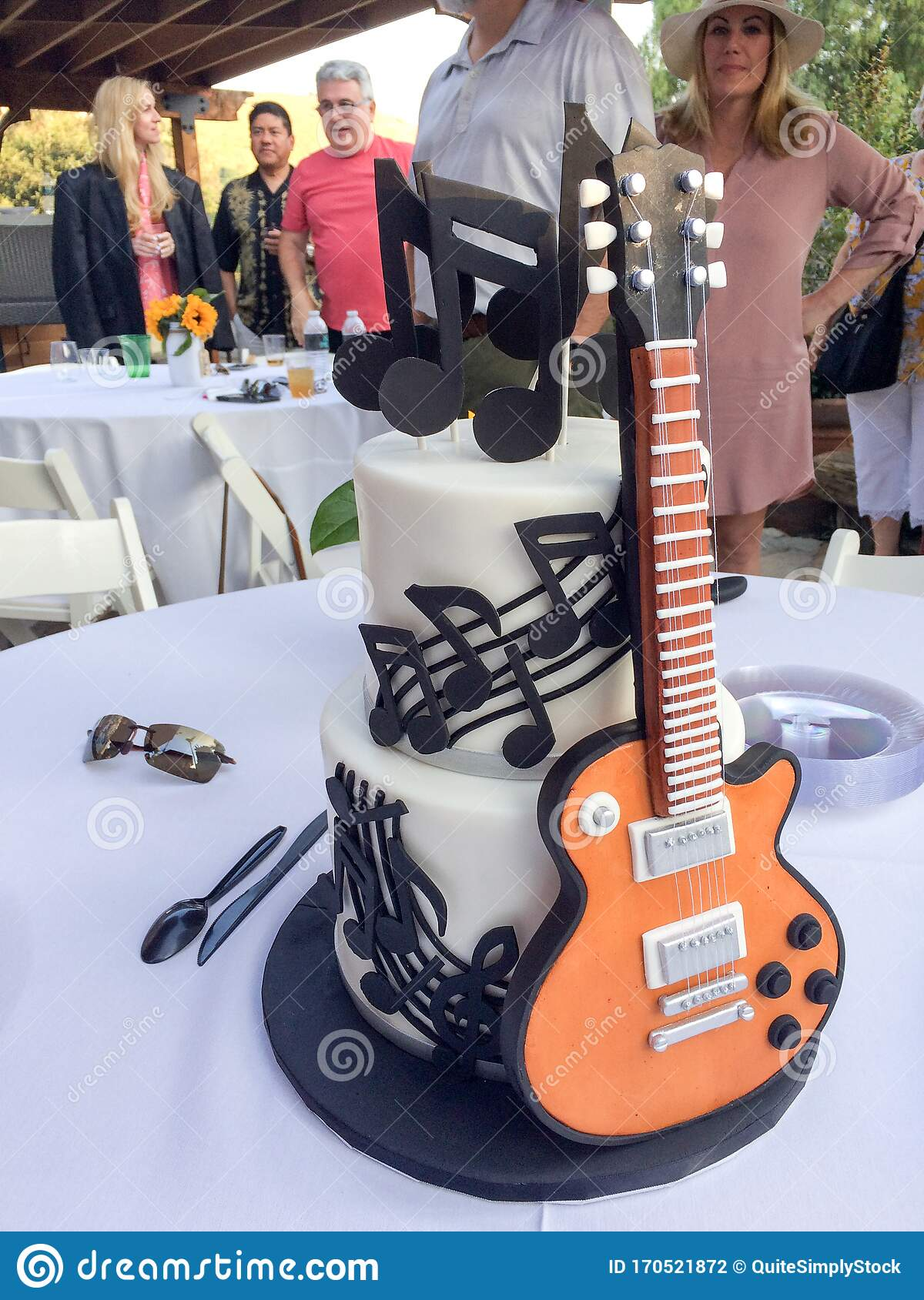 Pleasing Guitar Cake On Table Editorial Photography Image Of Stratocaster Personalised Birthday Cards Akebfashionlily Jamesorg