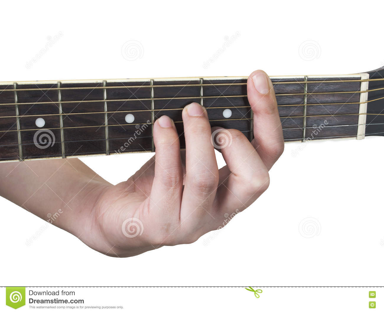 Guitar Chord Bm With White Background Stock Image Image Of