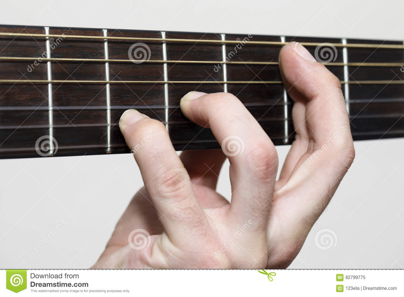 Guitar Chords Stock Photo - Image: 82799775