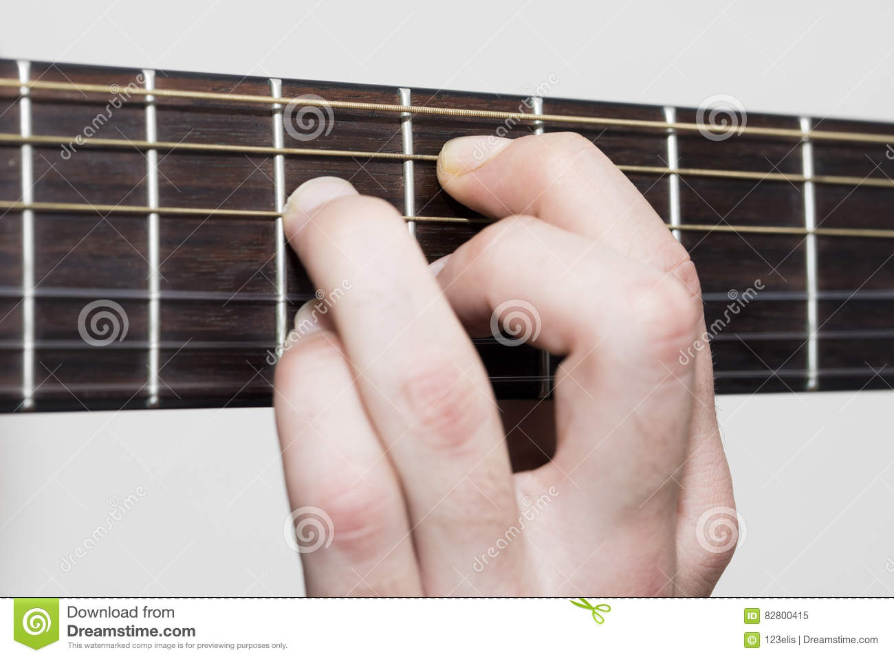 Guitar Chords Stock Image Image Of Classic Fretboard 82800415