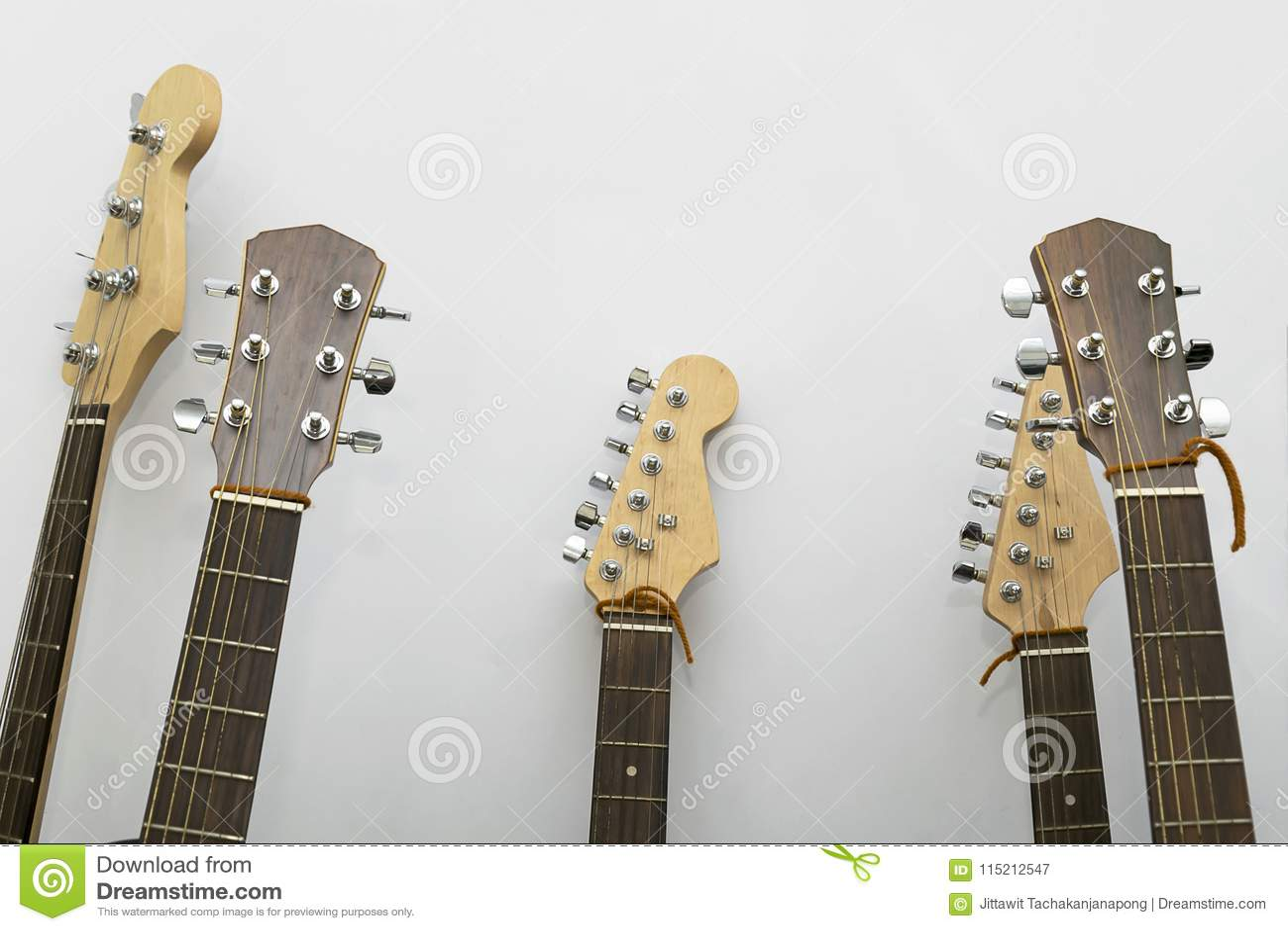 Guitar closeup in the studio