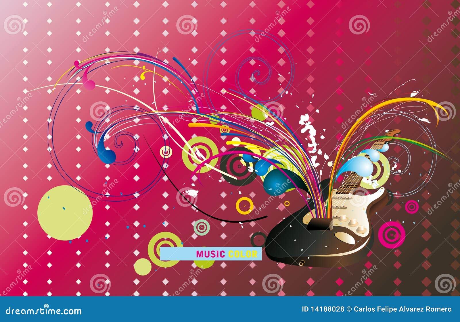 guitar composition stock vector illustration of color 14188028. Black Bedroom Furniture Sets. Home Design Ideas