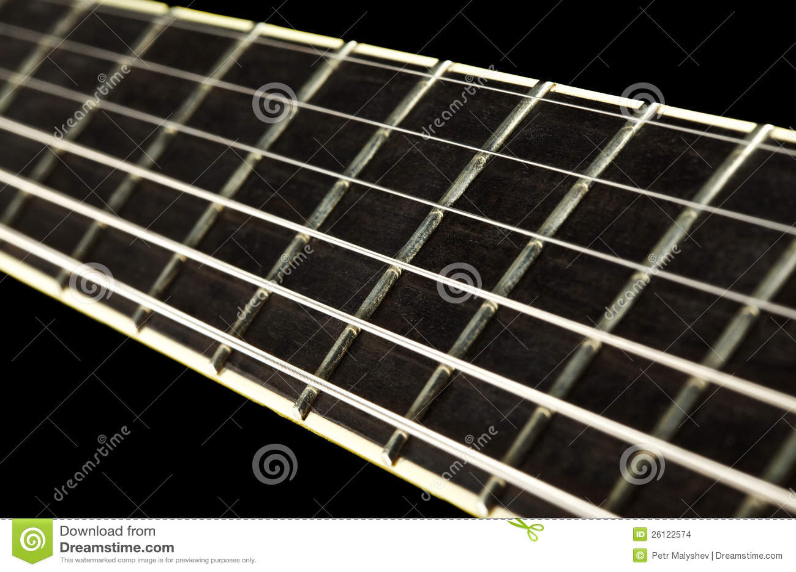 Guitar Fretboard Closeup Stock Photo Image Of Nobody