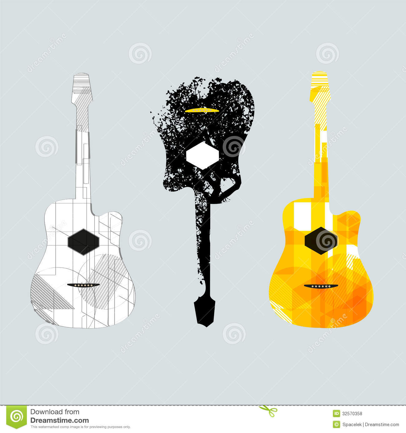 guitar graphic art1 royalty free stock photos image