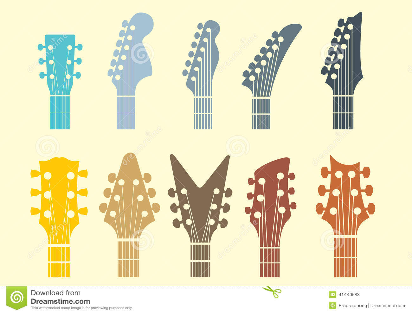 Guitar Headstock Logo Design