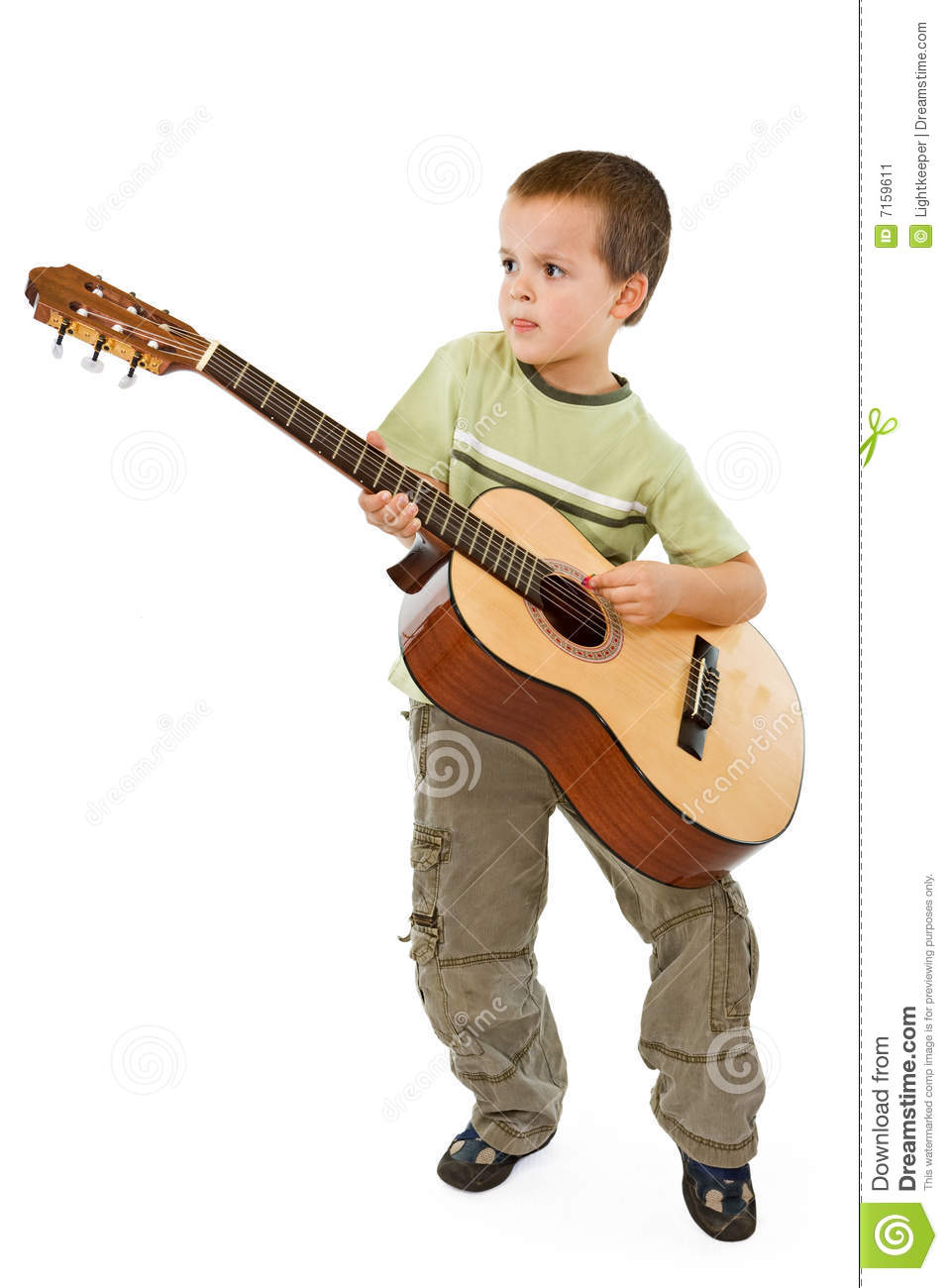 guitar kid stock image image of happy child isolated 7159611. Black Bedroom Furniture Sets. Home Design Ideas