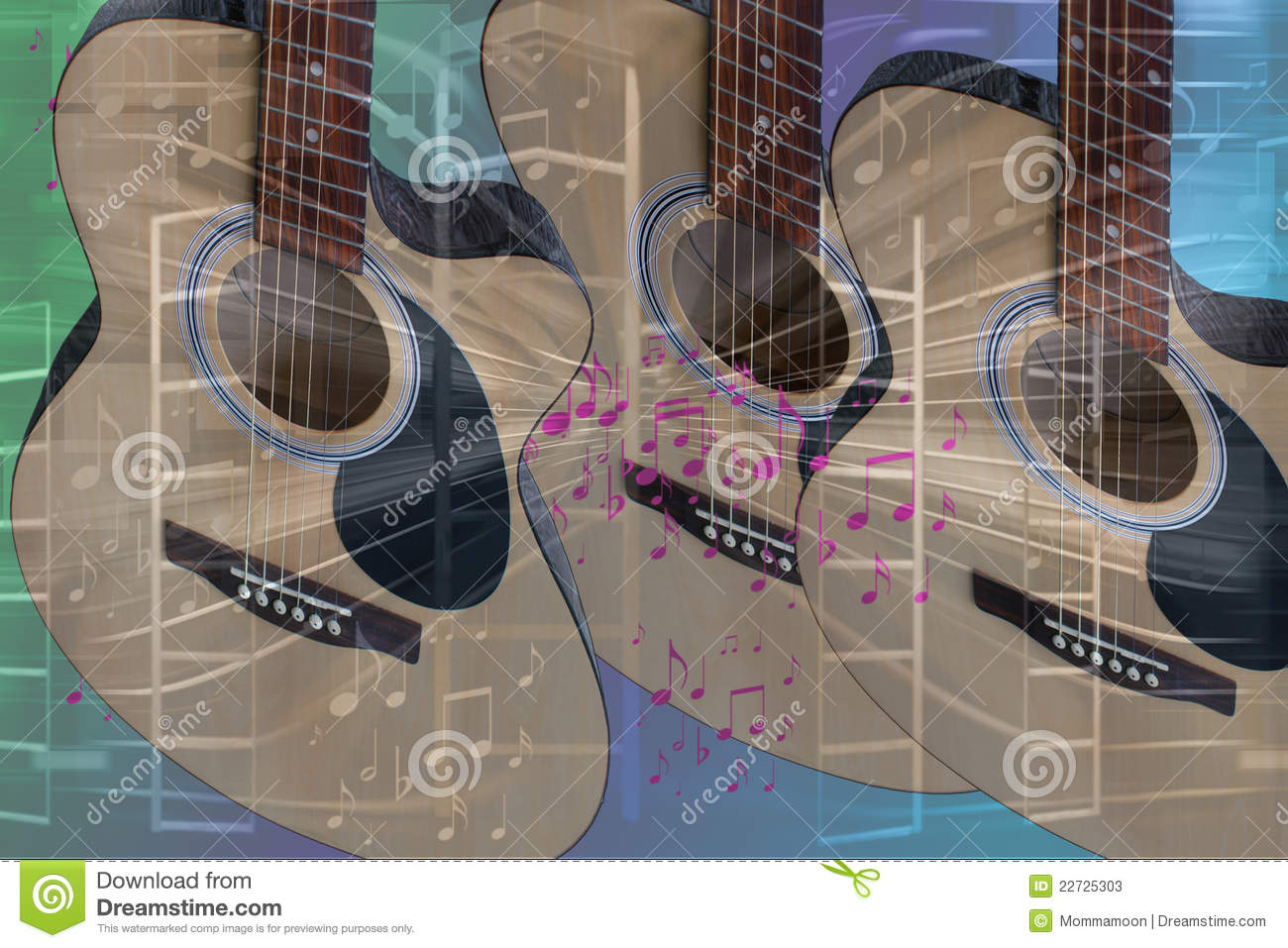 music time guitar abstract - photo #3