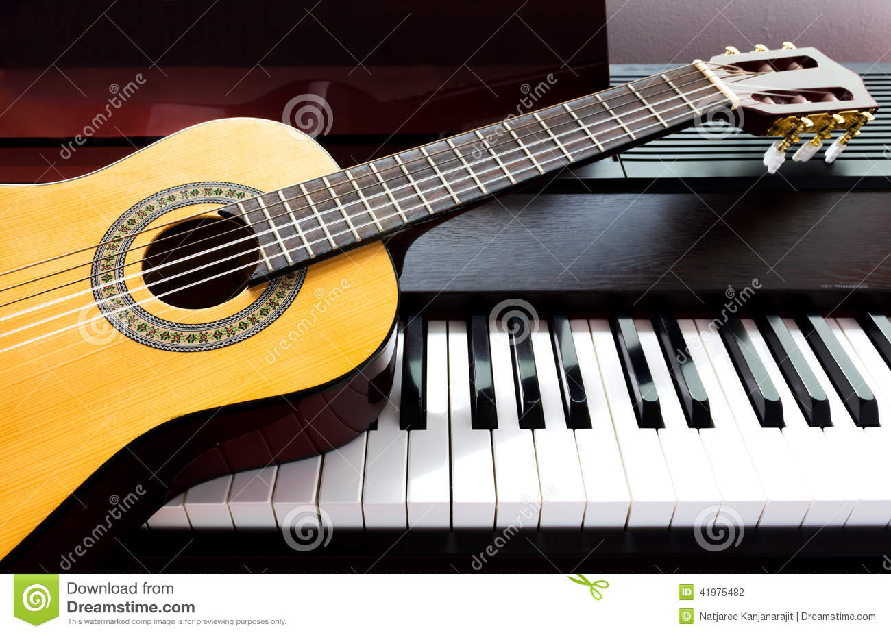 Guitar And Piano Stock Photo - Image: 41975482