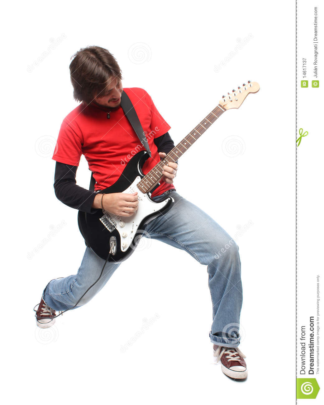 Rock and roll guitar player