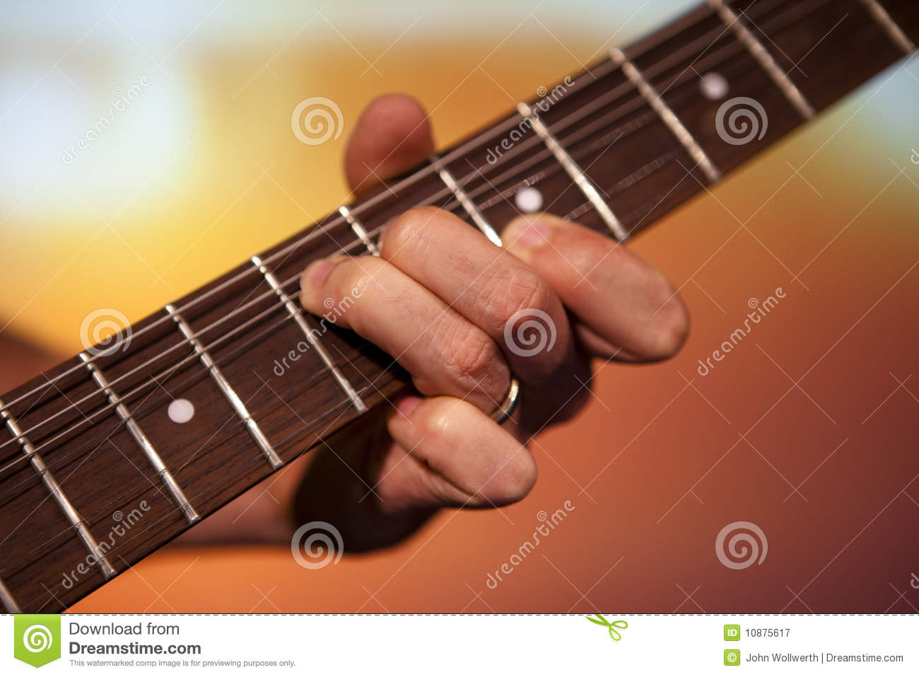 Guitar Players Fingers Stock Image Image Of Play Space 10875617