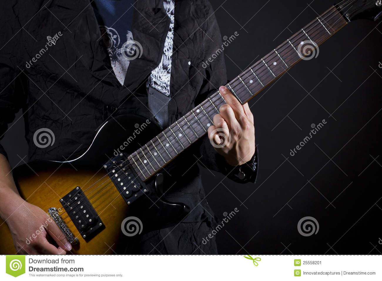 Guitar Power Chords Stock Image Image Of Fingers Harmony 25558201