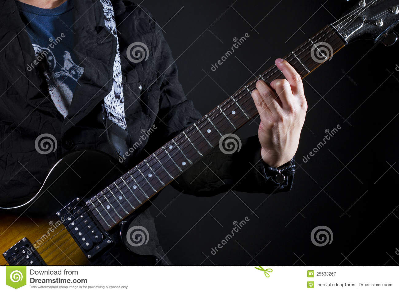 Guitar Power Chords Stock Image Image Of Chords Grunge 25633267