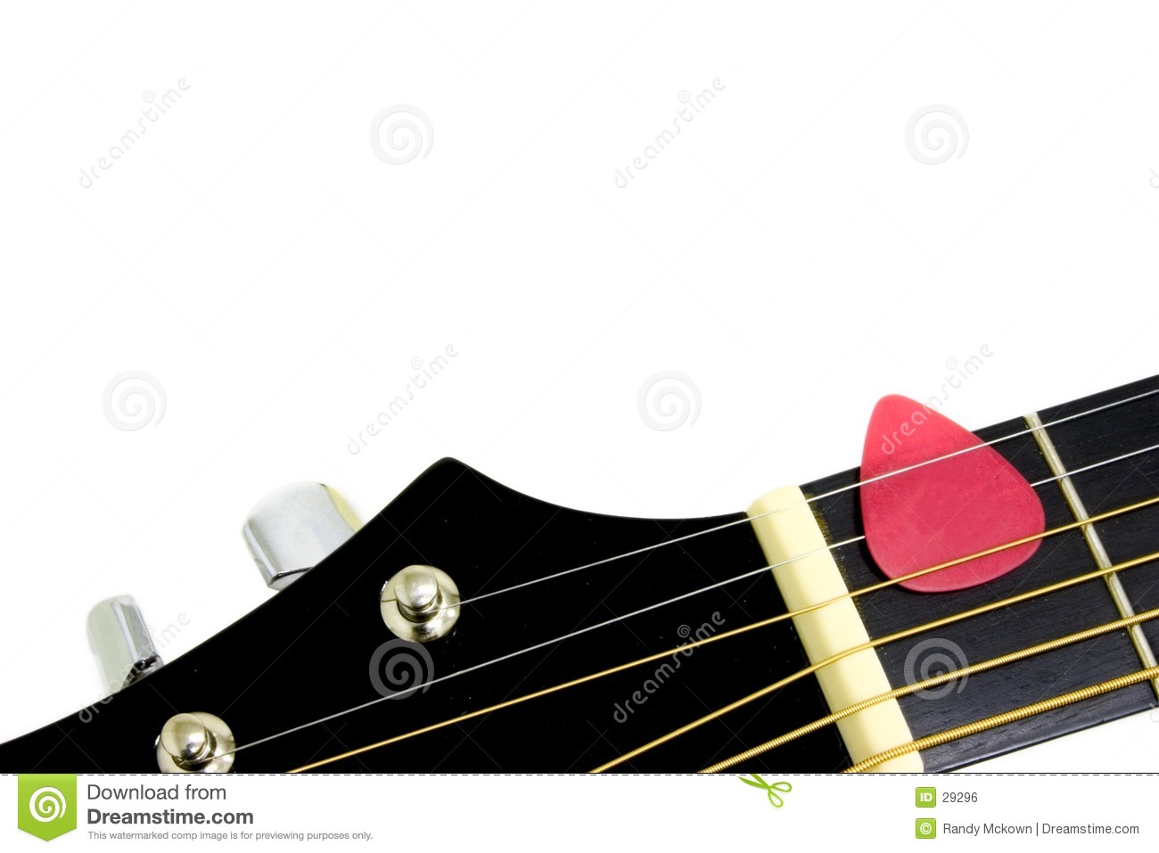 Guitar with Red Pick