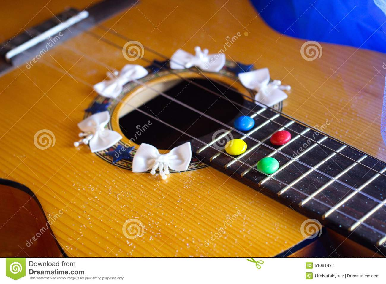 Guitar Romantic Sweets Chocolate Song Music Stock Photo - Image ...