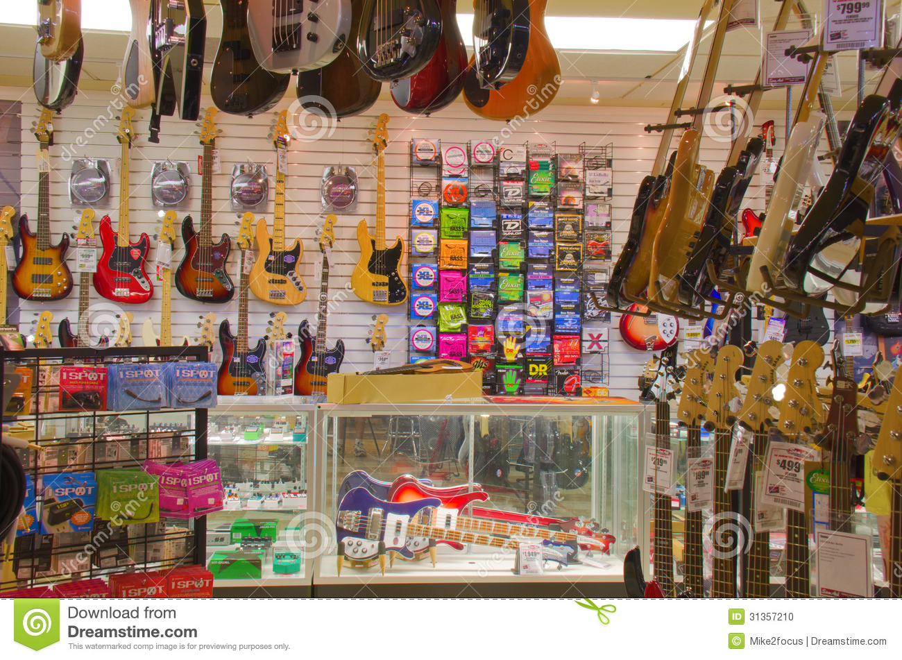 Guitar Shop Music Store Editorial Image Image Of Fender