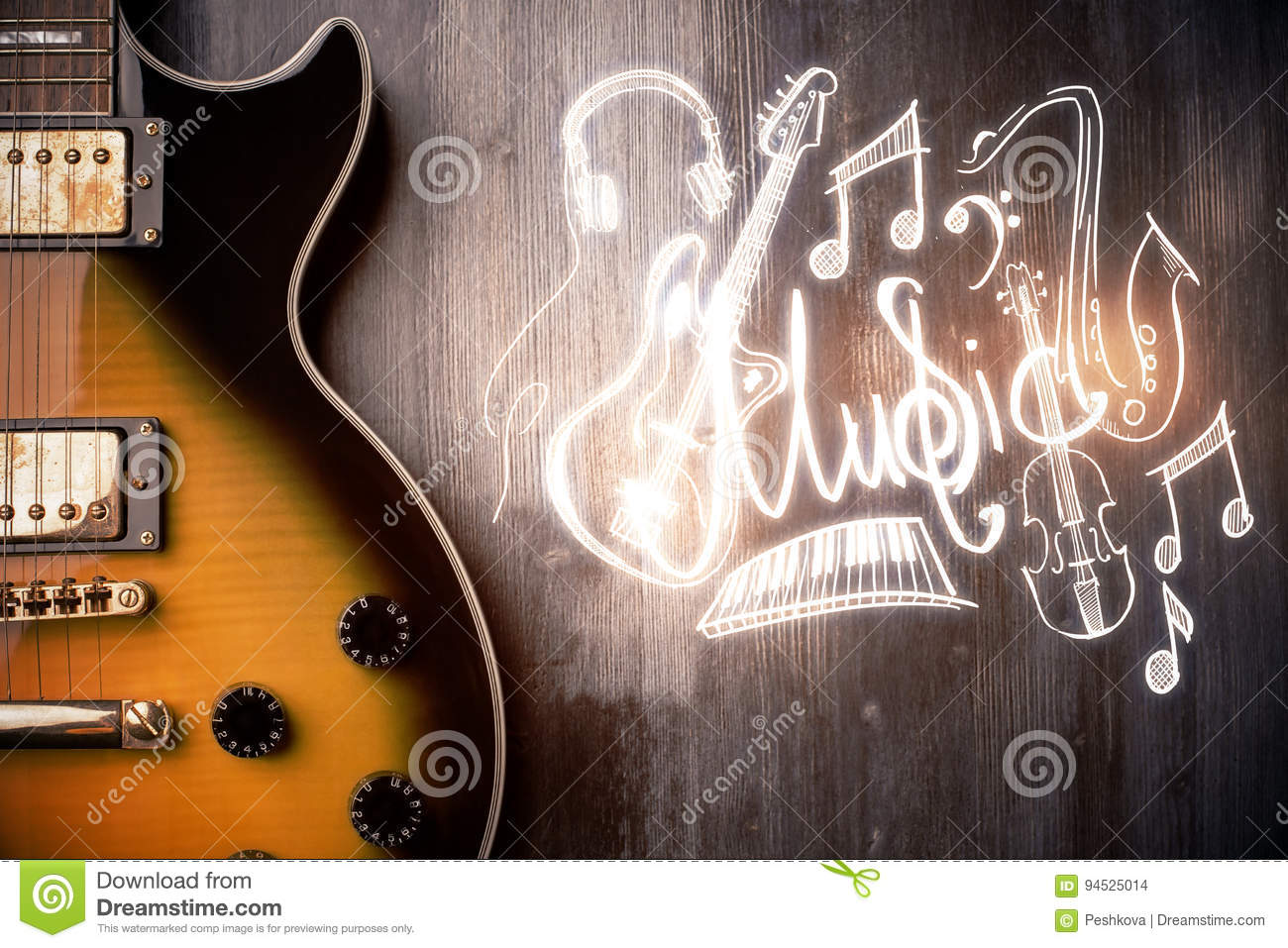 Guitar sketch stock images download 82 royalty free photos