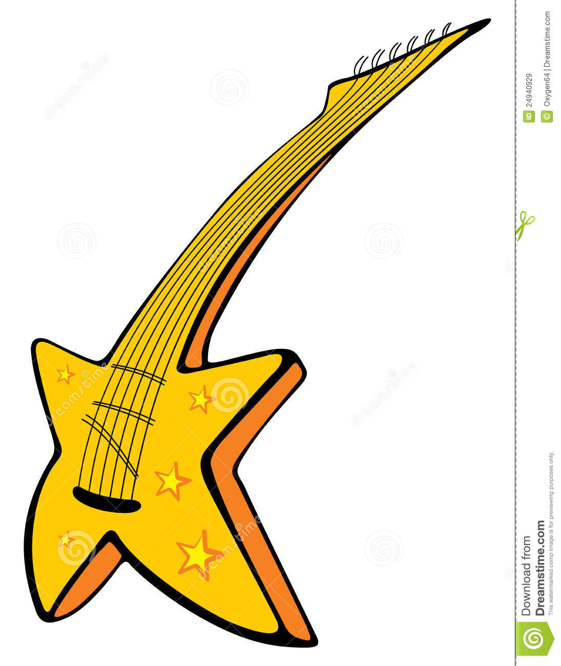 Guitar With Stars Royalty Free Stock Images - Image: 24940929