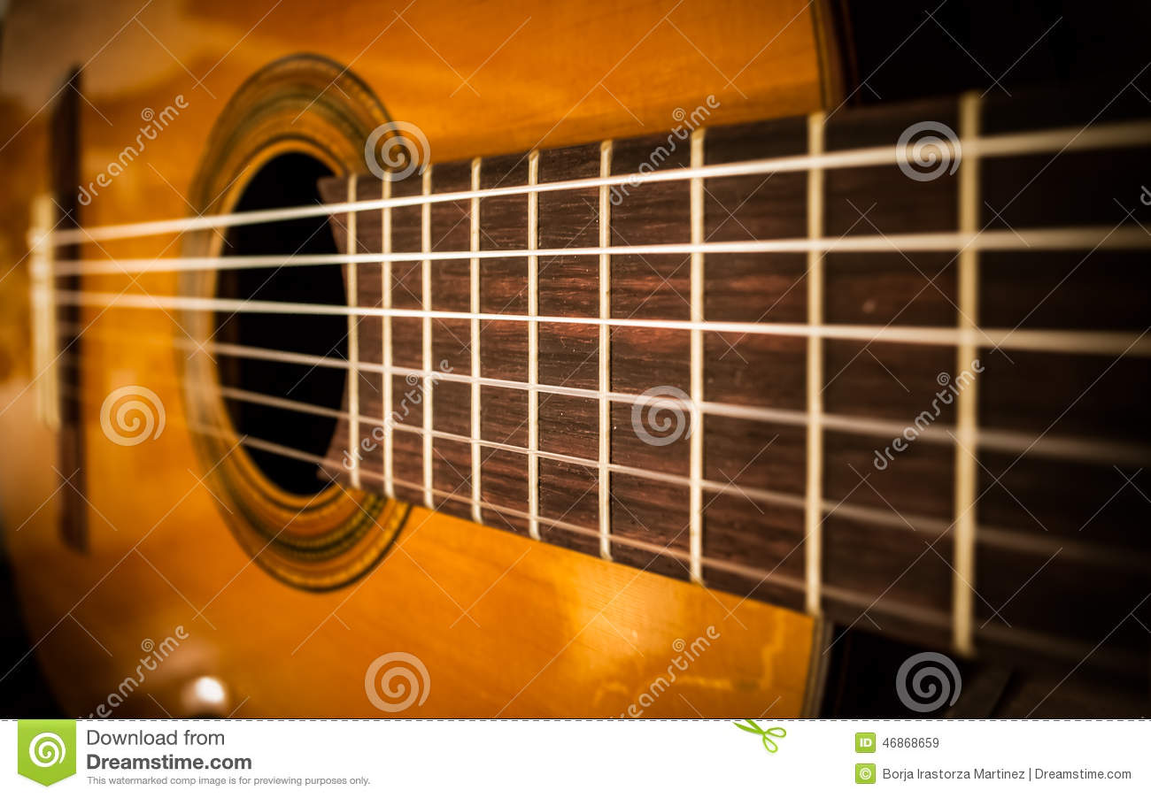 guitar strings stock image image of guitar close classic 46868659. Black Bedroom Furniture Sets. Home Design Ideas