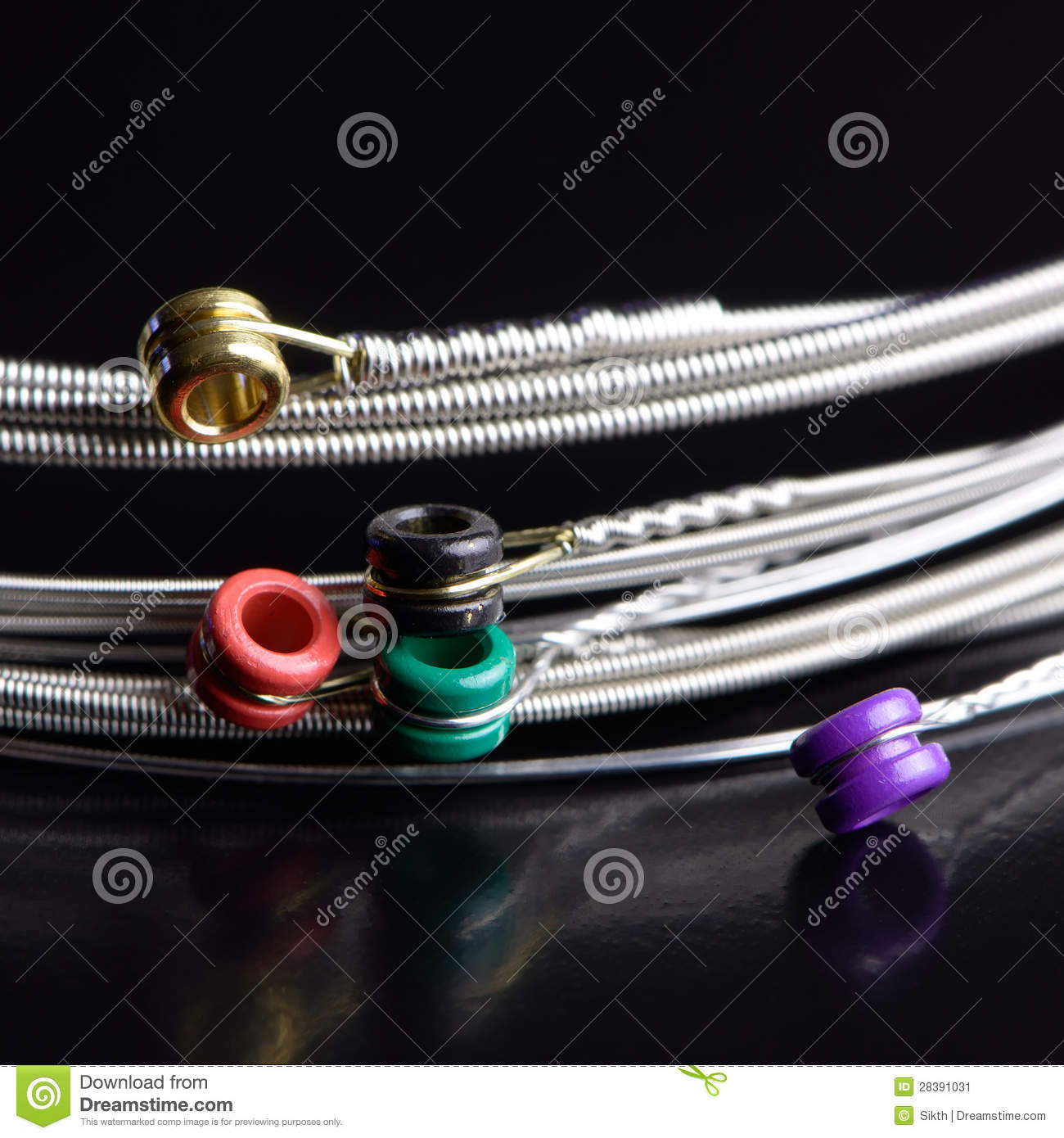 guitar strings close up stock photos royalty free images. Black Bedroom Furniture Sets. Home Design Ideas