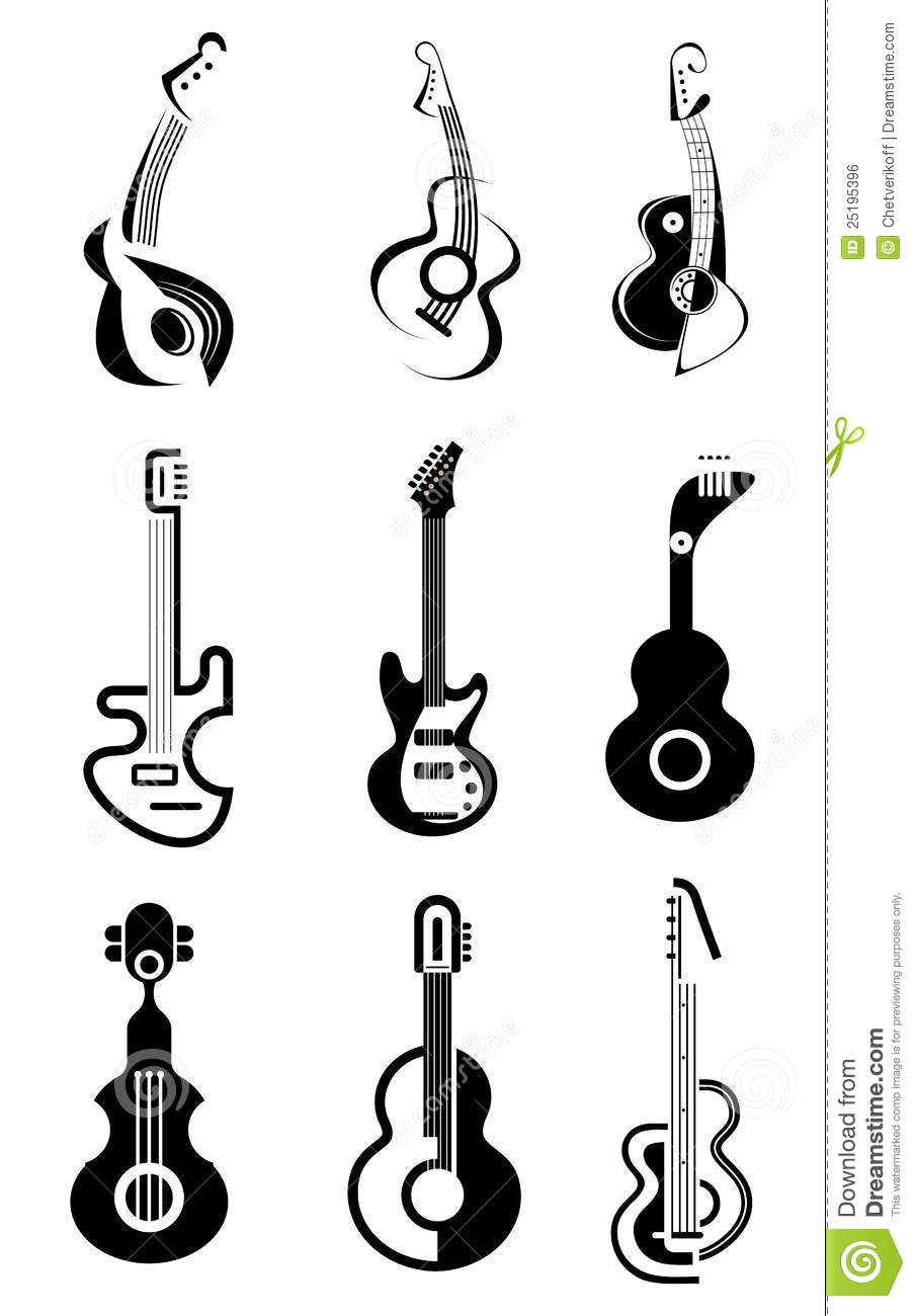 Guitar Vector Icon Royalty Free Stock Image - Image: 25195396