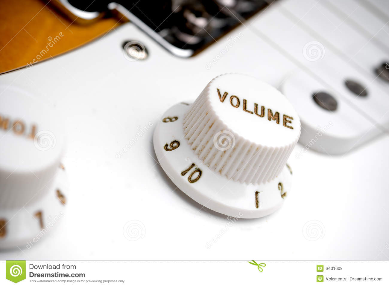 Guitar Volume Control Royalty Free Stock Images - Image: 6431609