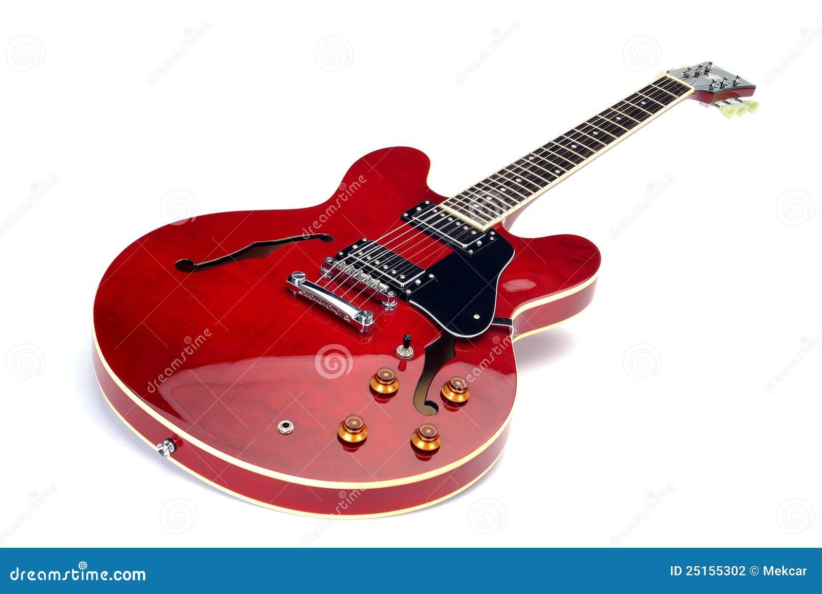 guitare lectrique rouge photo stock image du angle. Black Bedroom Furniture Sets. Home Design Ideas