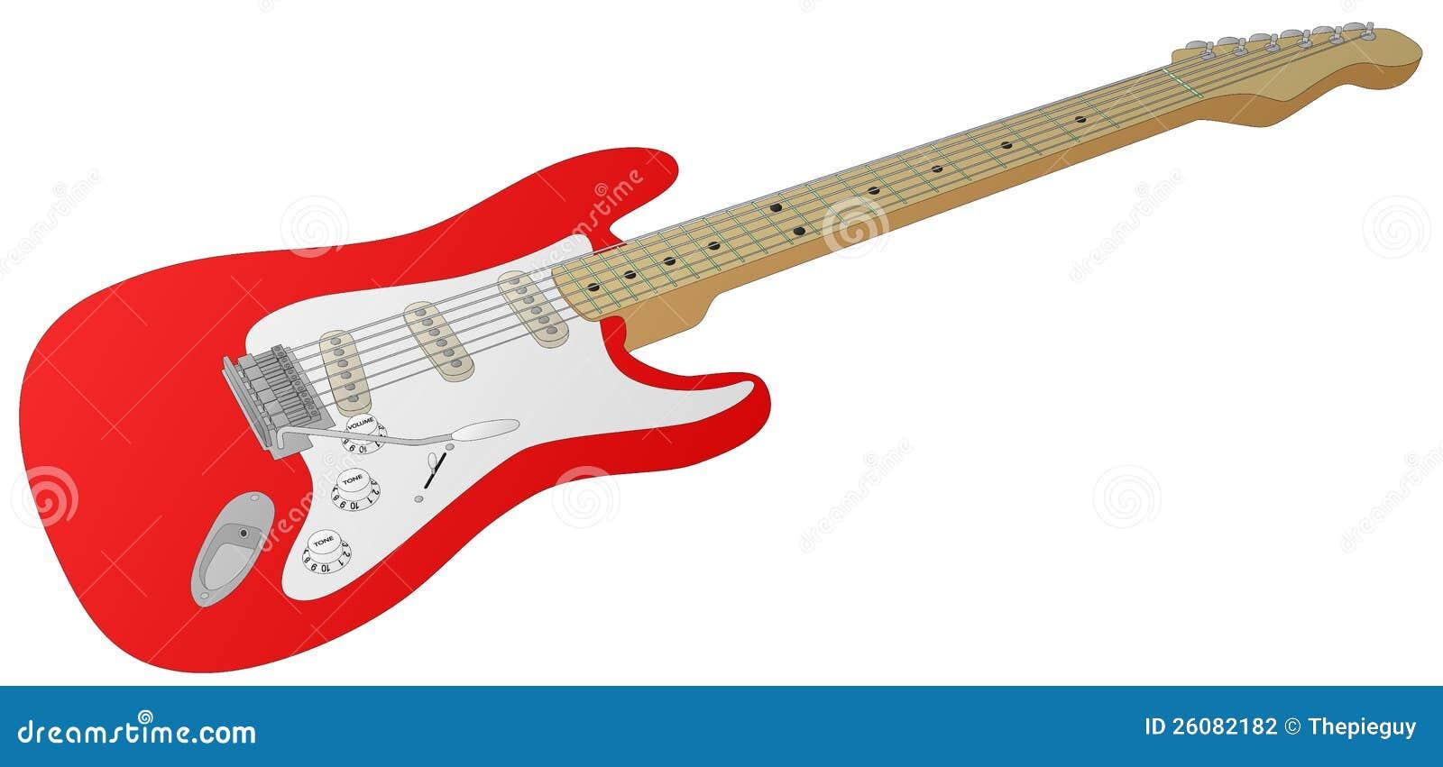 guitare lectrique rouge illustration de vecteur image du bleus 26082182. Black Bedroom Furniture Sets. Home Design Ideas