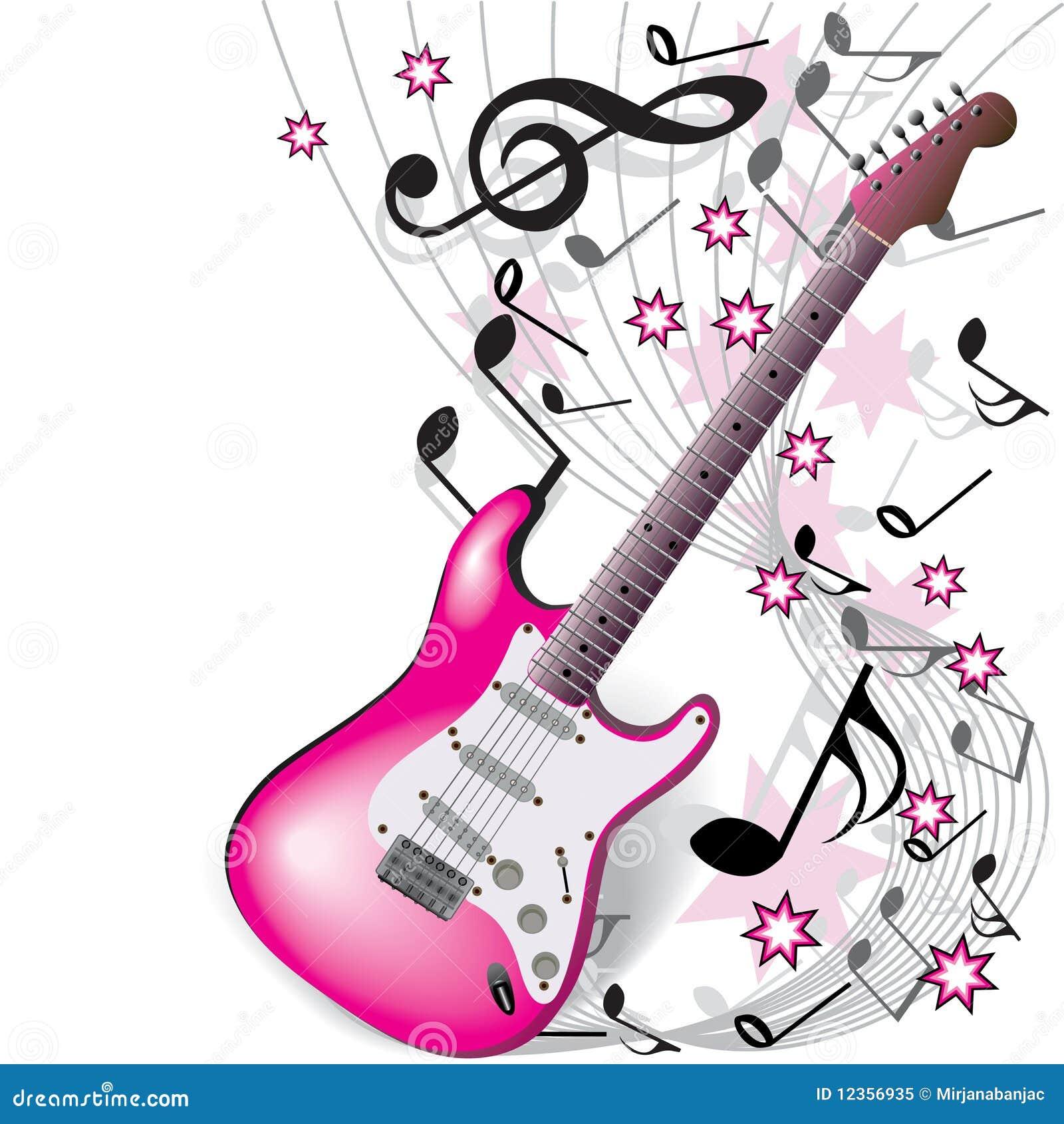 guitare rose photo libre de droits image 12356935  guitar vector free
