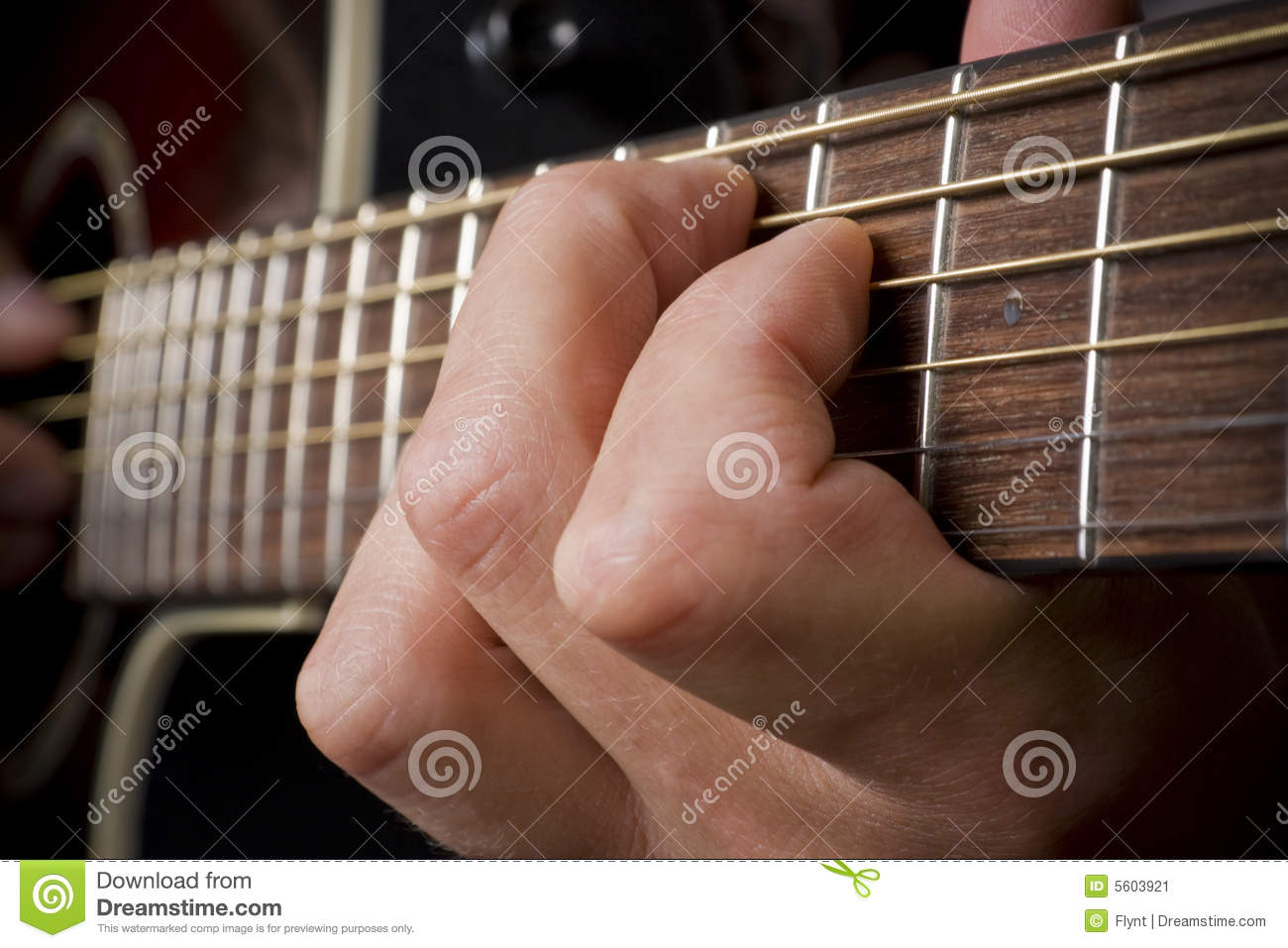 Guitarist Hand Playing Acoustic Guitar Stock Image - Image ...