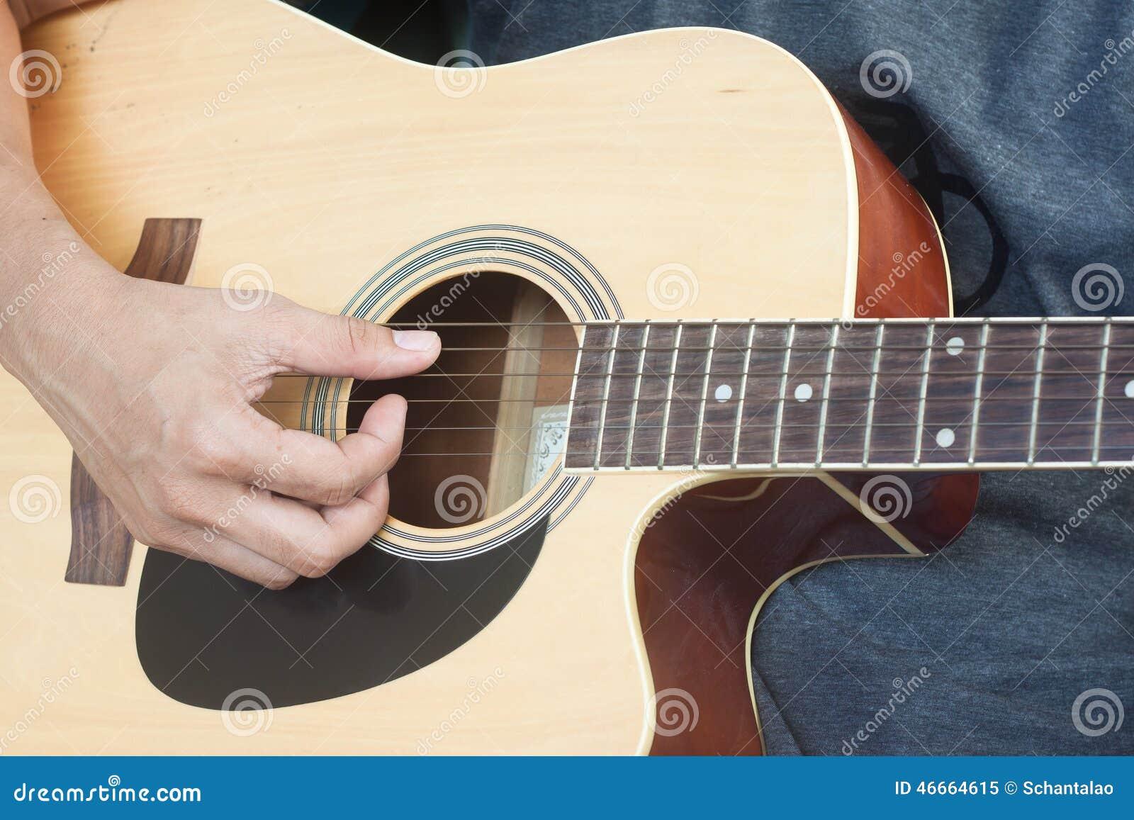 guitarist plays stock photo image 46664615. Black Bedroom Furniture Sets. Home Design Ideas