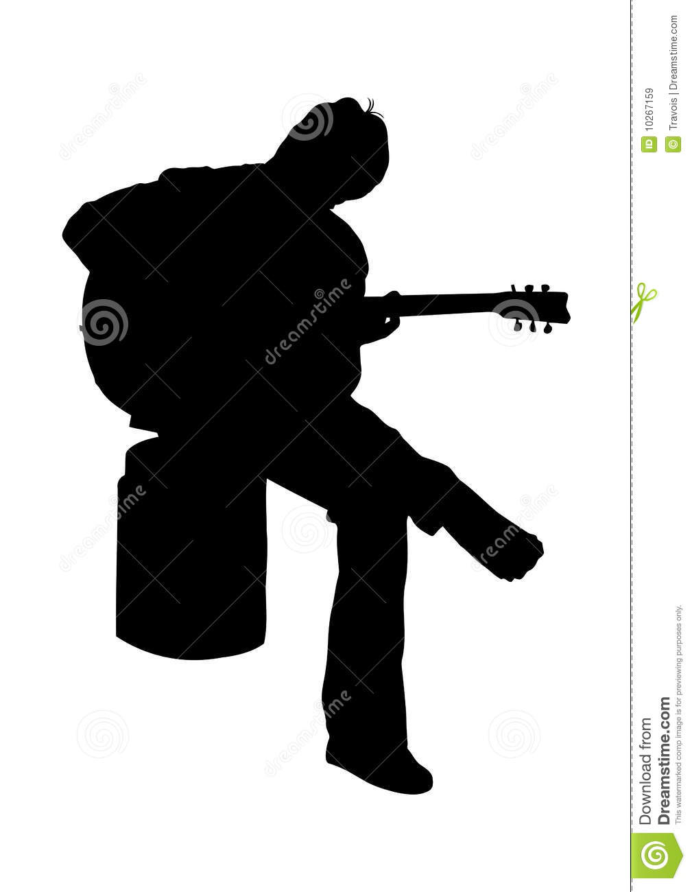 Guitarist Silhouette Royalty Free Stock Images - Image ...