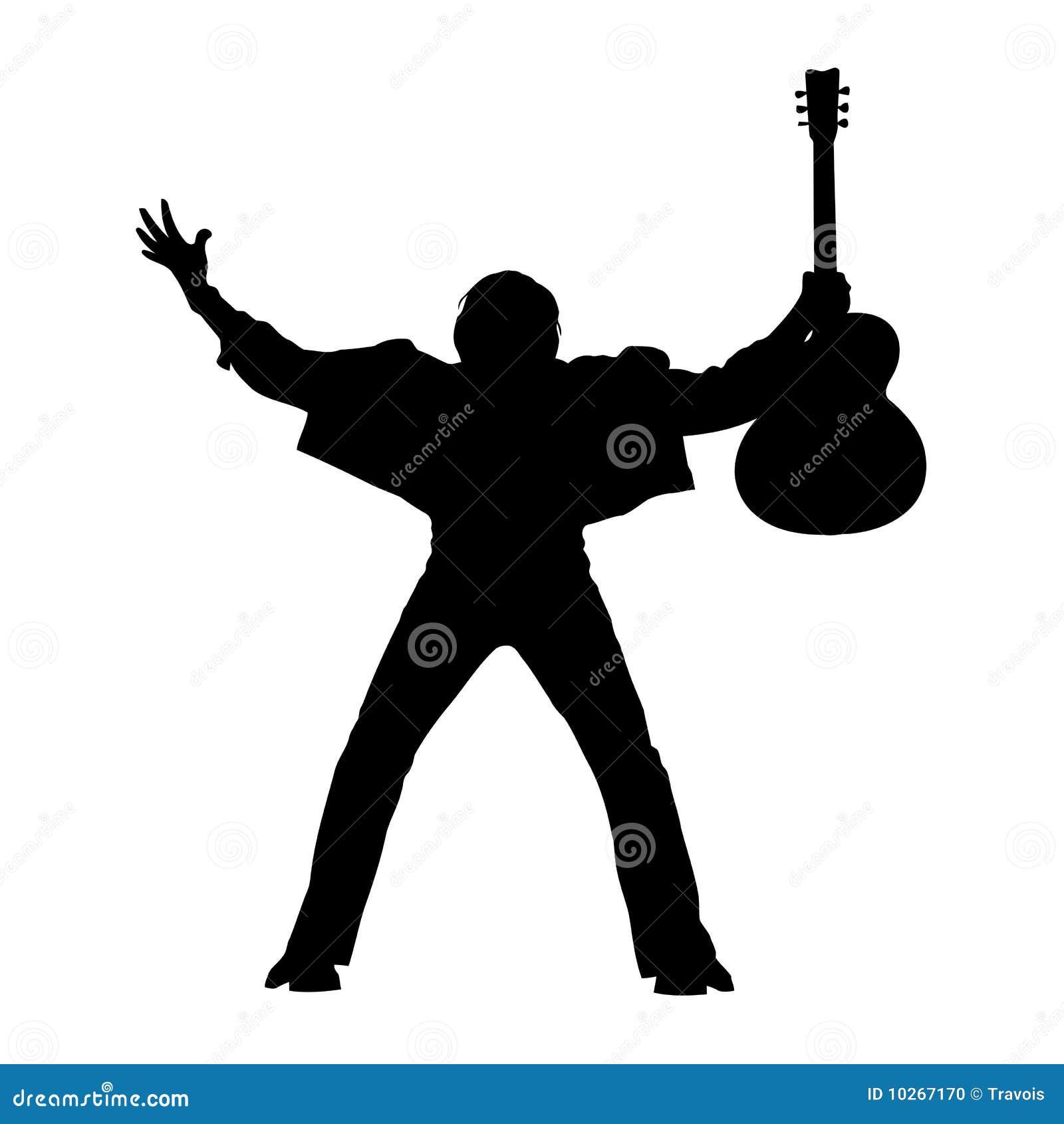 Guitarist silhouette stock illustration. Image of ...