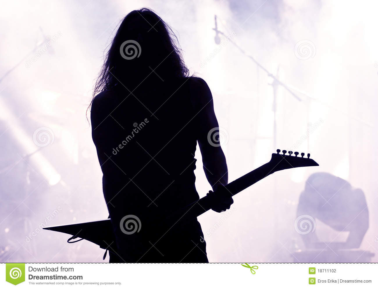 Guitarist Silhouette Stock Photography - Image: 18711102