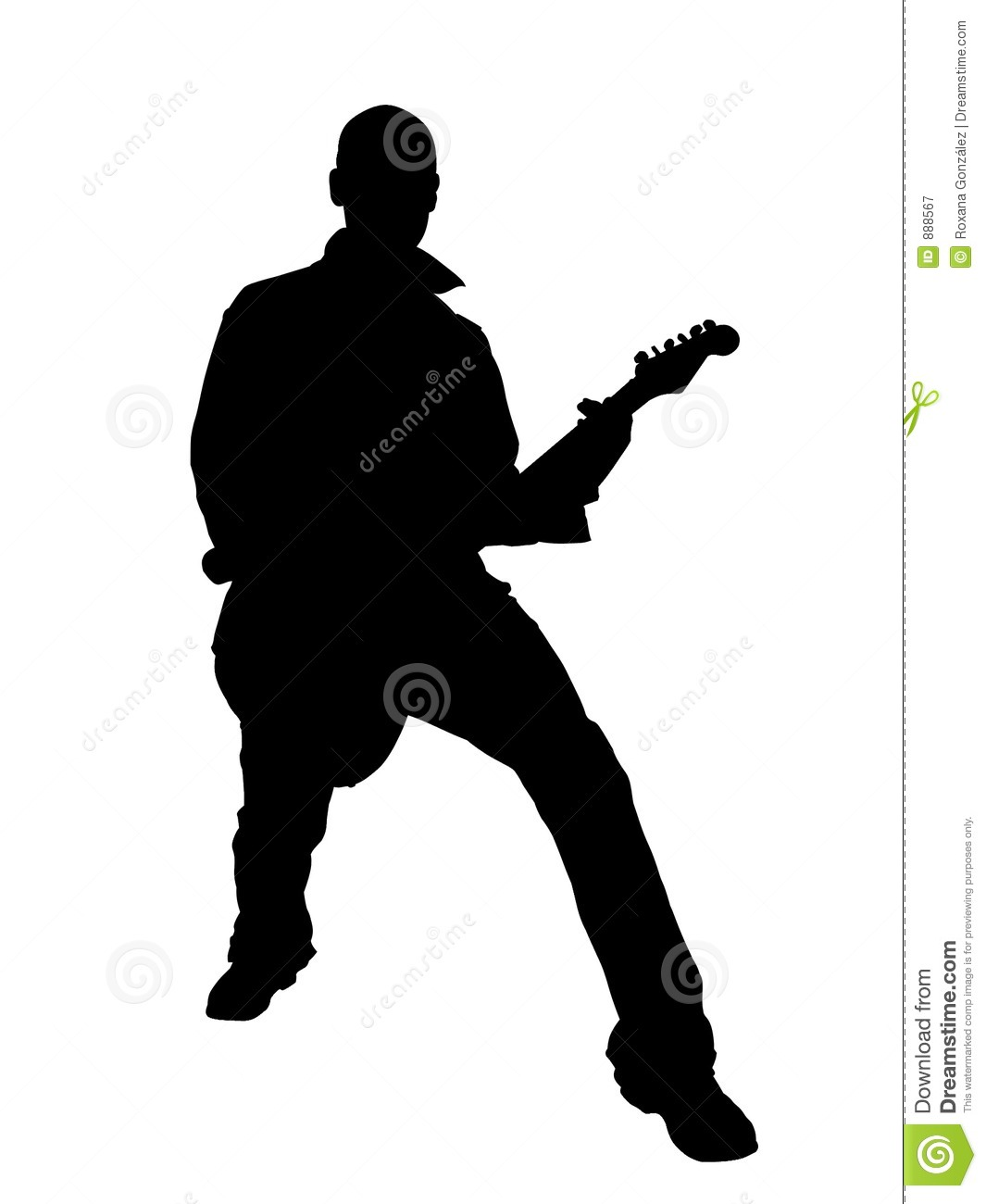 Guitarist Silhouette Royalty Free Stock Photography ...