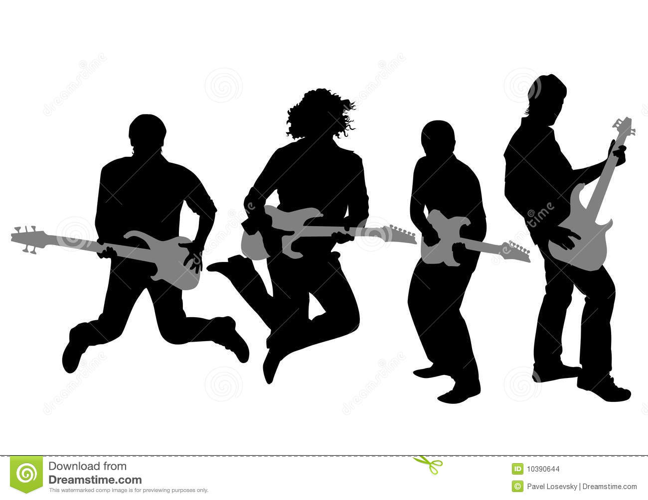 Guitarist Silhouette Vector Stock Images Image 10390644
