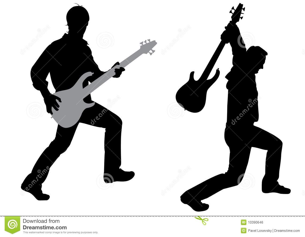 Guitarist Silhouette Vector Royalty Free Stock Image ...
