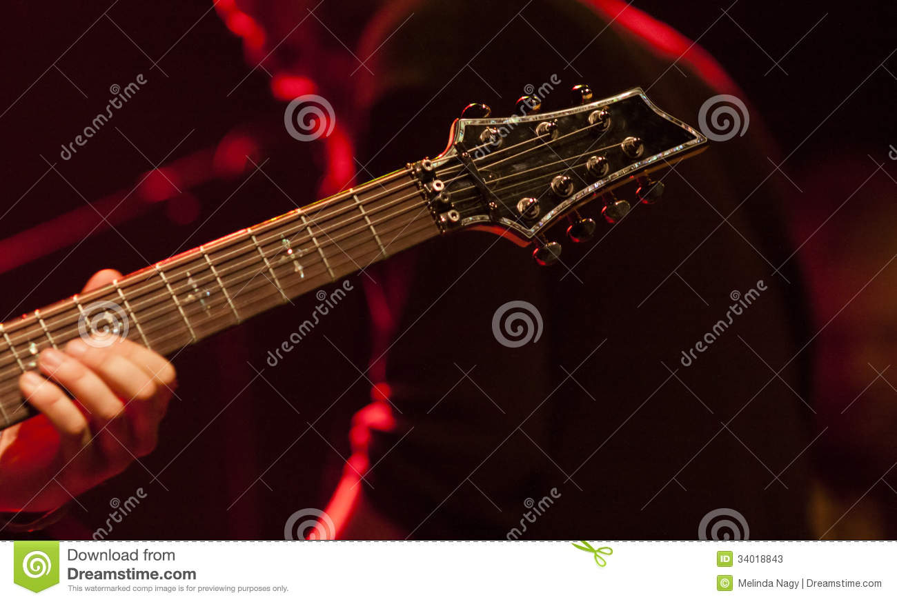 Guitarist On Stage Stock Photos - Image: 34018843