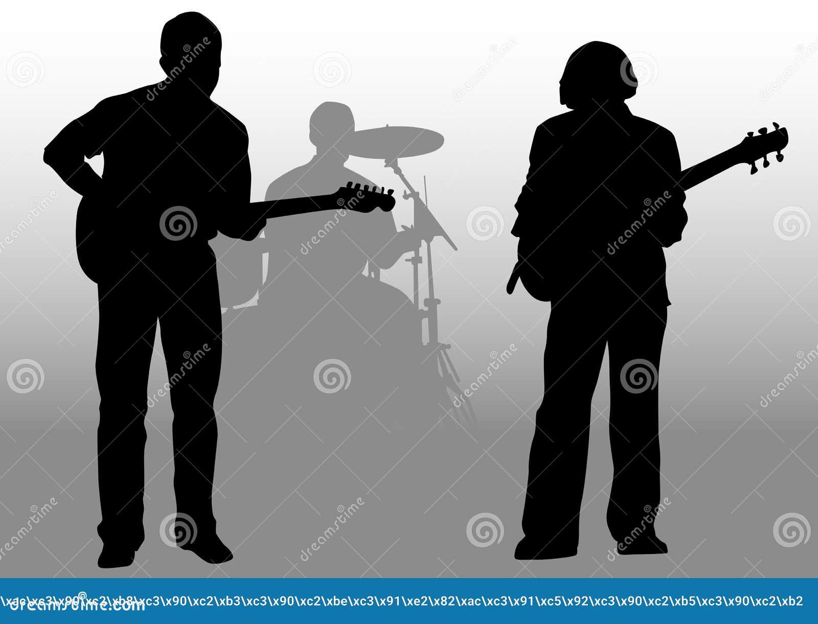 Guitaristes et batteur