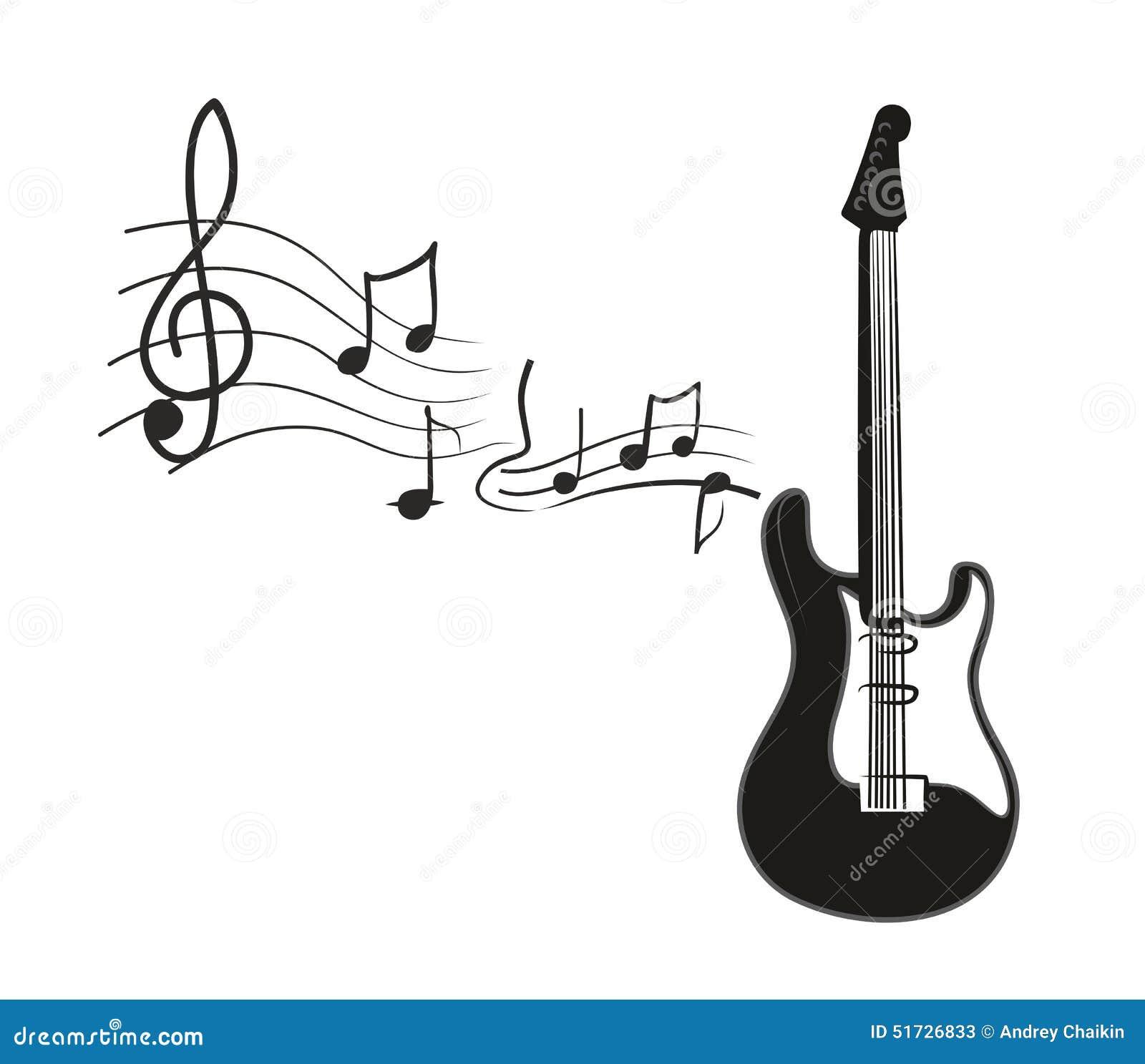 Guitarra Eléctrica Ilustración Del Vector Ilustración De