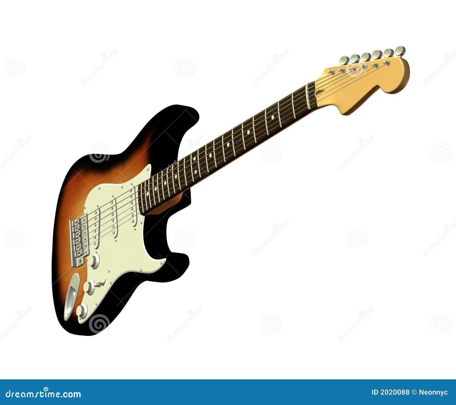 Guitarra Eléctrica Clásica 2 Stock de ilustración - Ilustración de ...